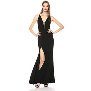 Dress the Population NWT Lana Maxi Gown Plunge